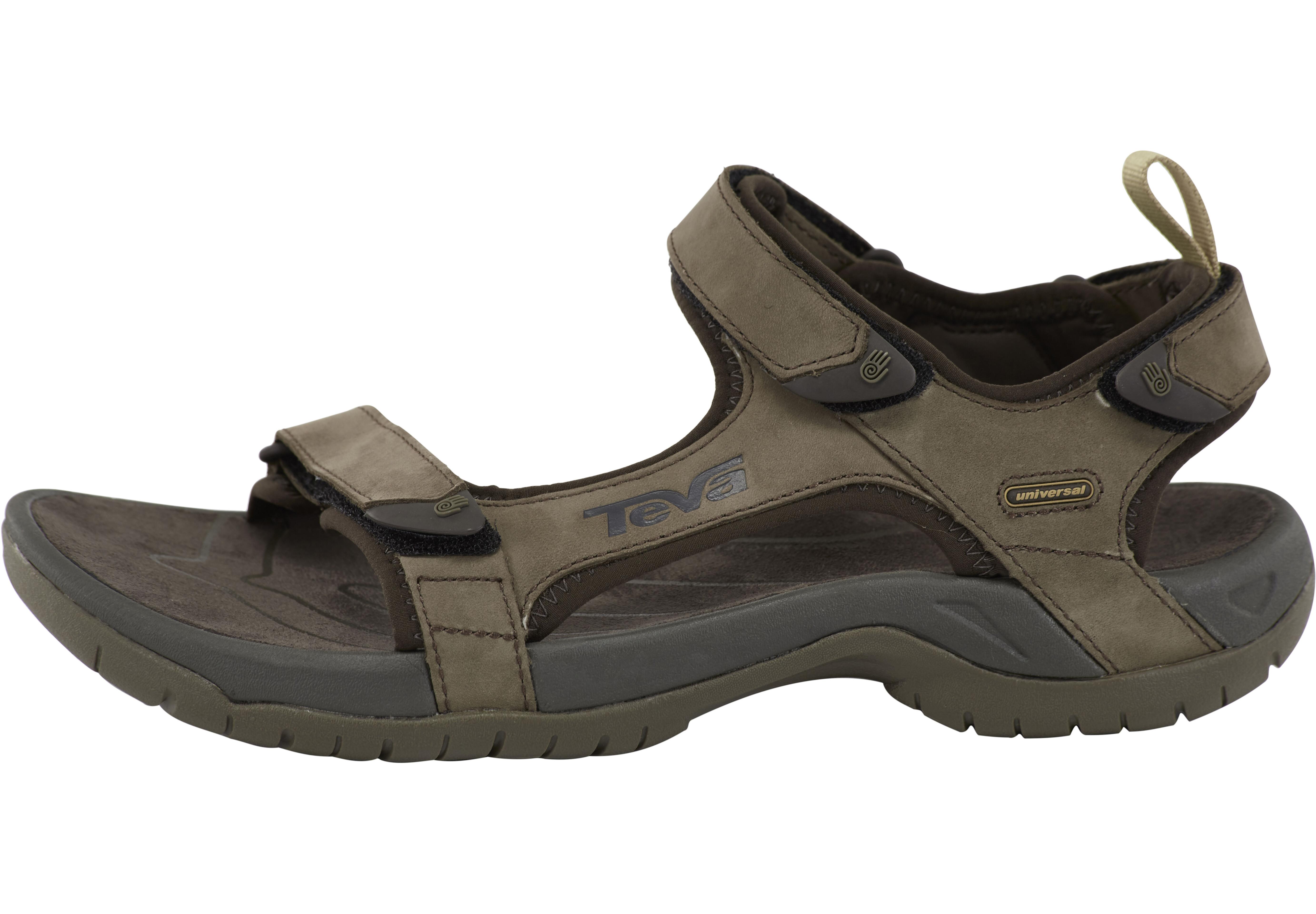 sports shoes 9ea35 4c9ee Teva Tanza Leather Sandals Men brown